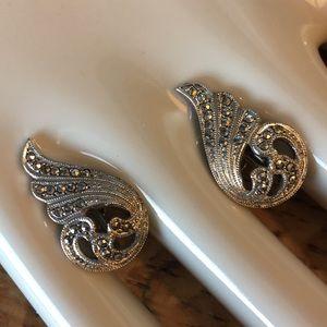Vintage Jewelry - Vintage Benkay Art Deco Earrings